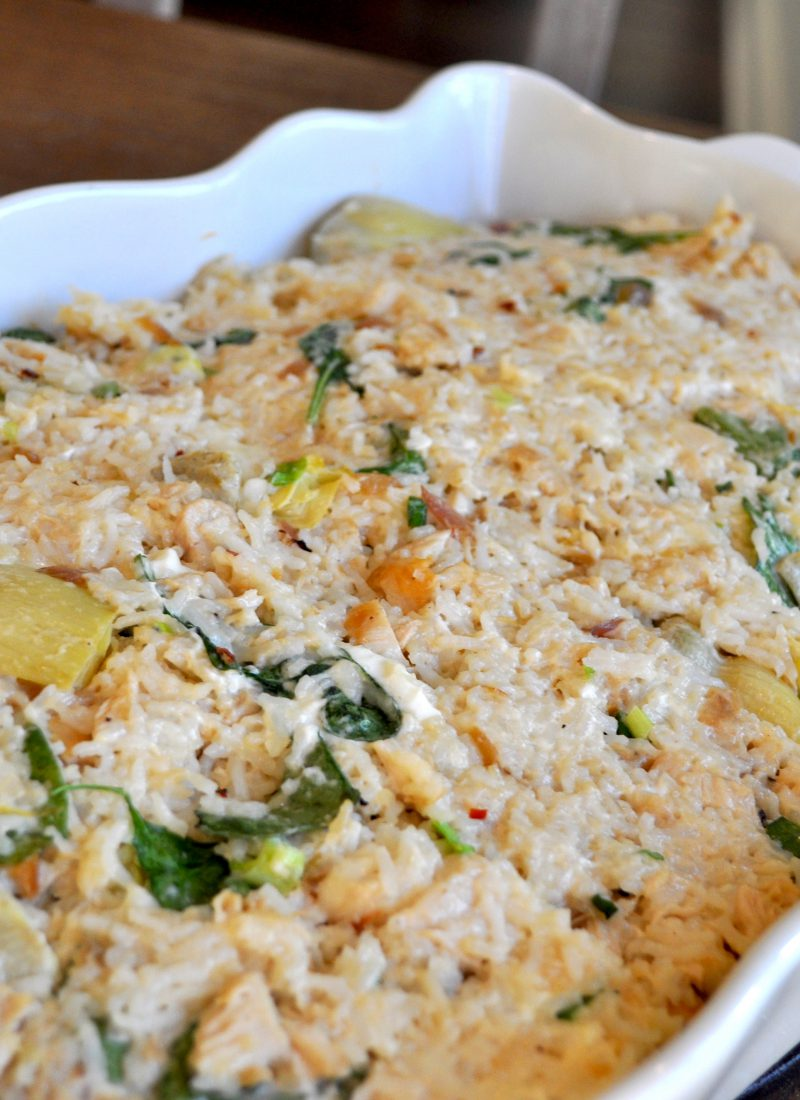 Spinach Dip Chicken Casserole