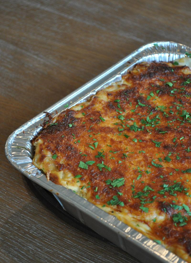 White Chicken Spinach Mushroom Lasagna