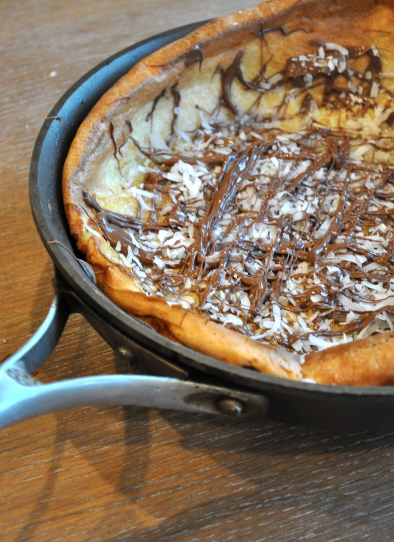 Coconut Nutella Dutch Baby